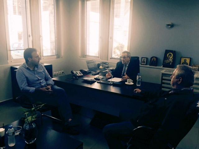 Επίσκεψη του Δήμαρχου Τρικκαίων στα γραφεία της Ε.Α.Σ. Τρικάλων ενόψει της νέας εκκοκκιστικής περιόδου